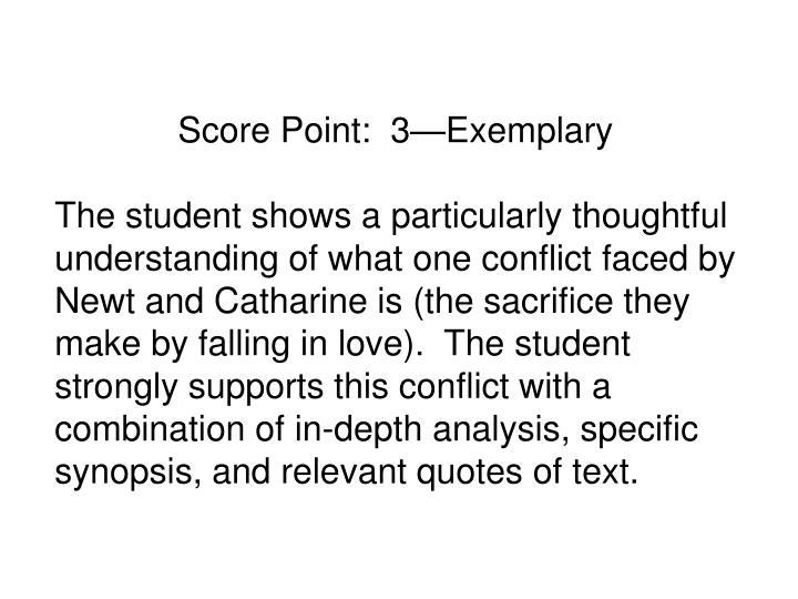Score Point:  3Exemplary