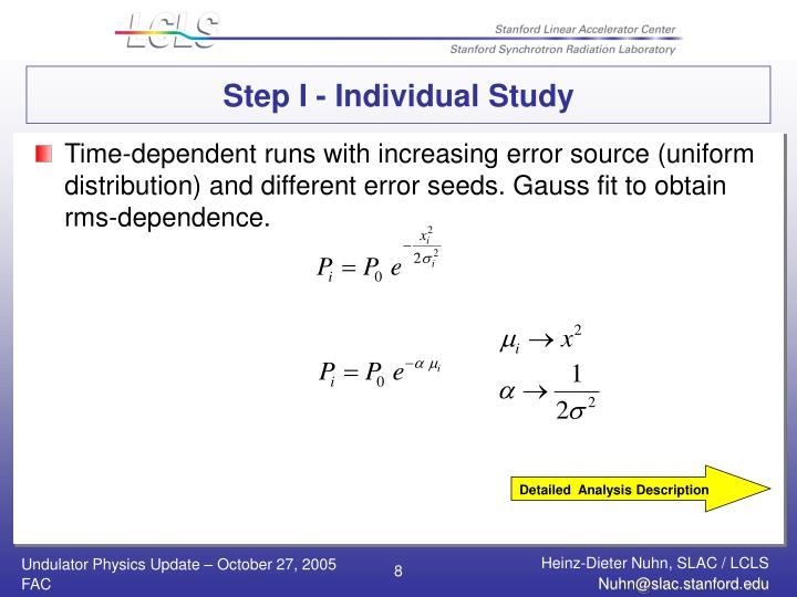 Step I - Individual Study