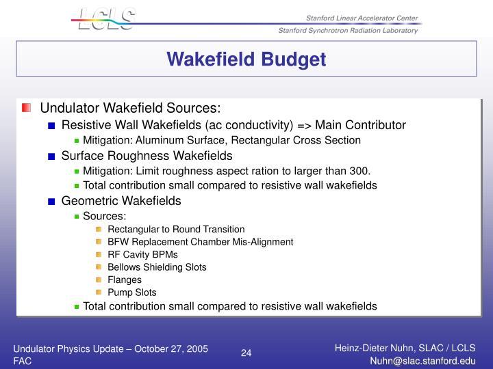Wakefield Budget