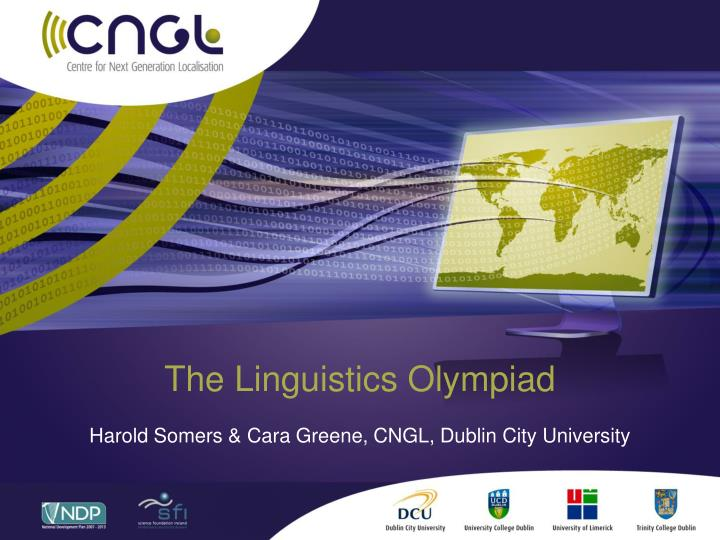 The linguistics olympiad