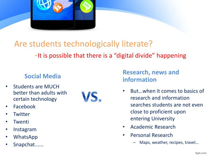 Are students technologically literate?