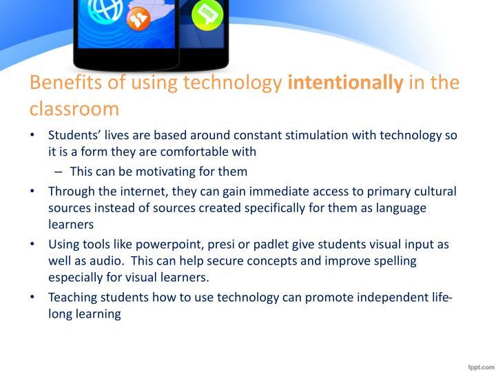 Benefits of using technology