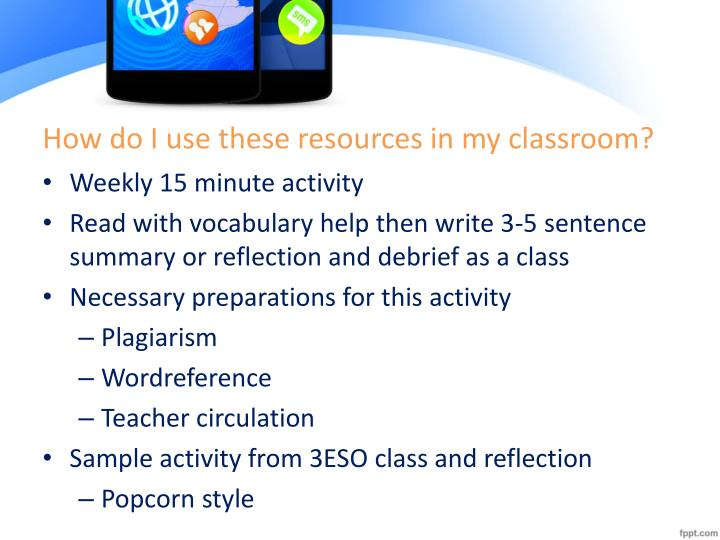 How do I use these resources in my classroom?