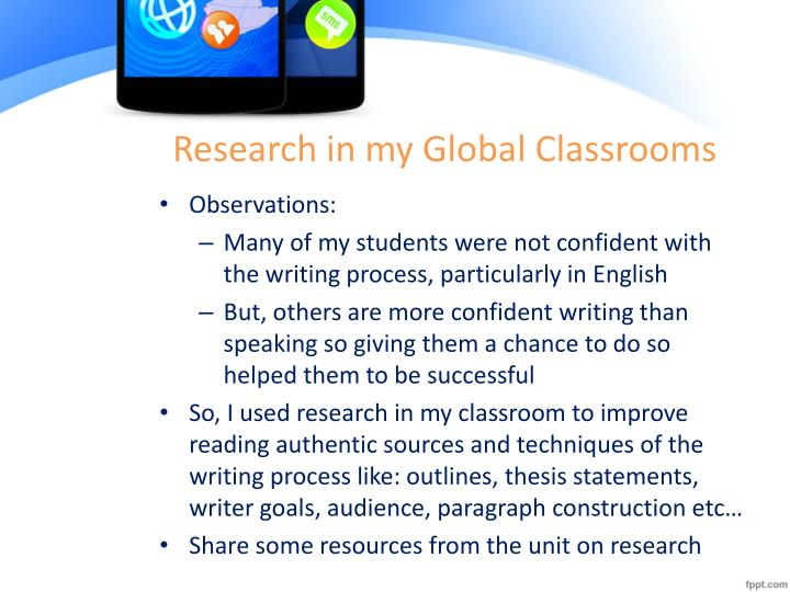 Research in my Global Classrooms