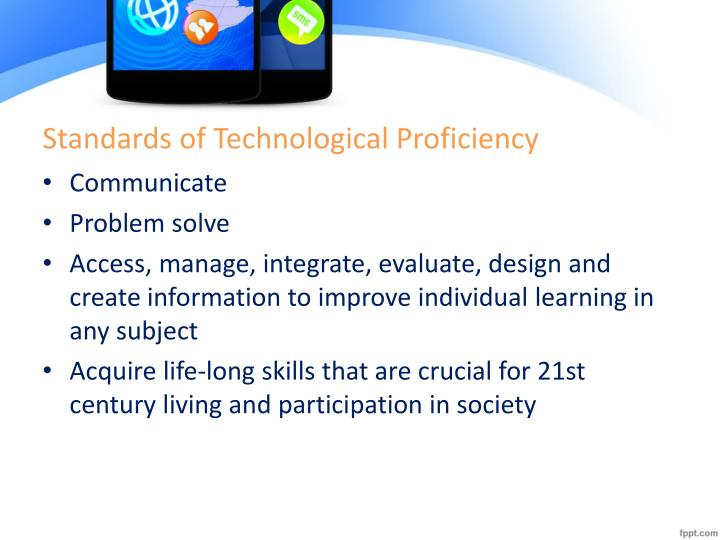 Standards of Technological Proficiency