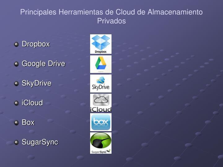 Principales Herramientas de Cloud de Almacenamiento Privados