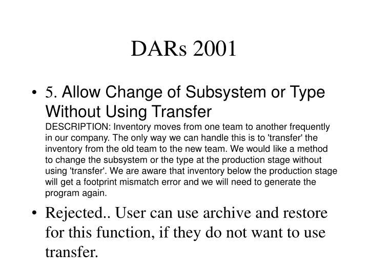 DARs 2001