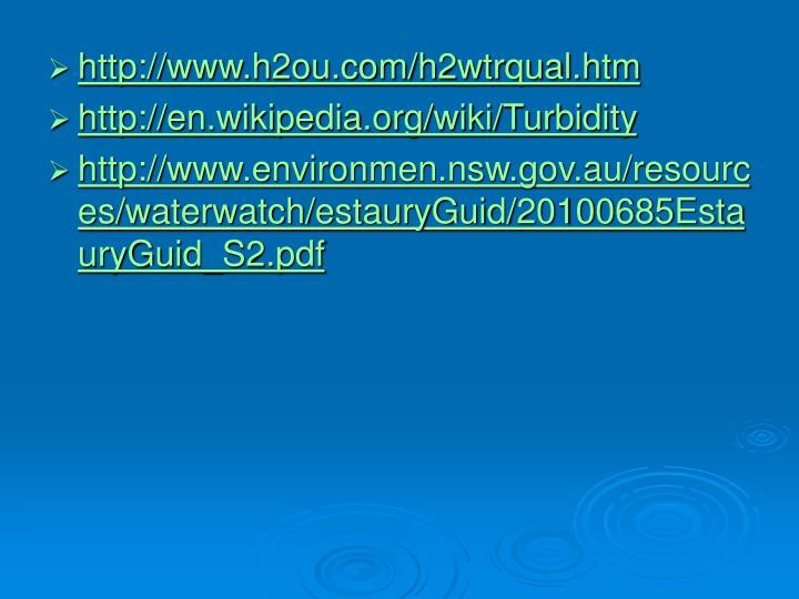 http://www.h2ou.com/h2wtrqual.htm