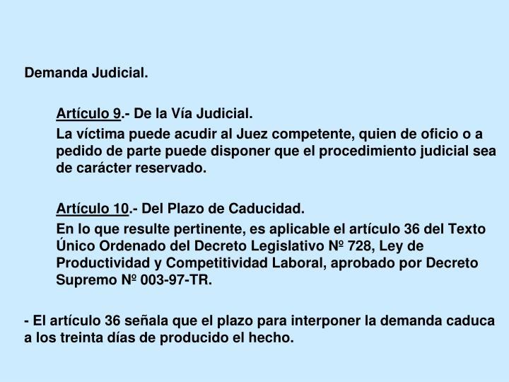 Demanda Judicial.