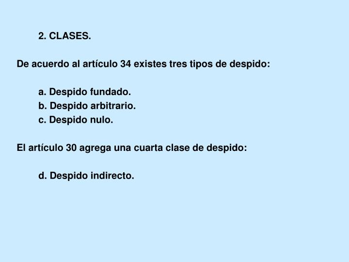 2. CLASES.