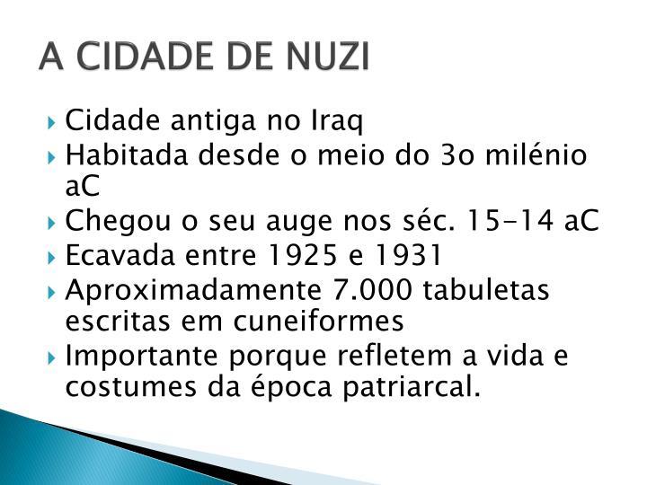 A CIDADE DE NUZI