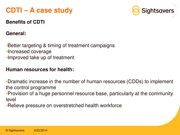 CDTI – A case study