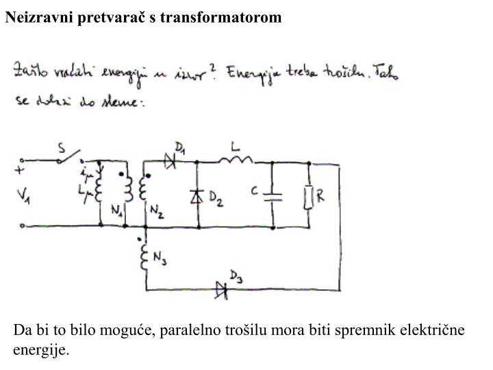 Neizravni pretvarač s transformatorom