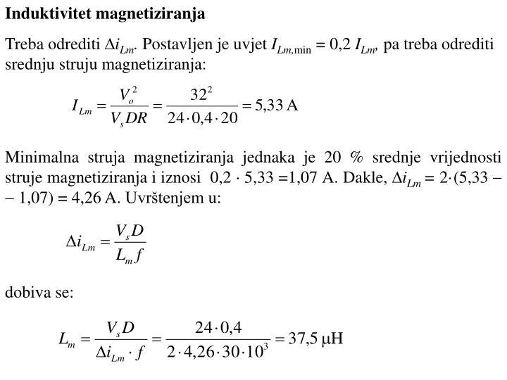 Induktivitet magnetiziranja