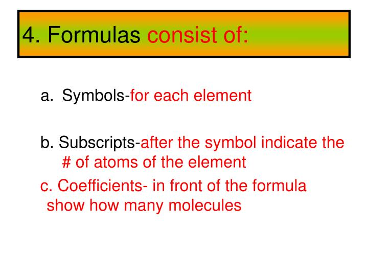 4. Formulas