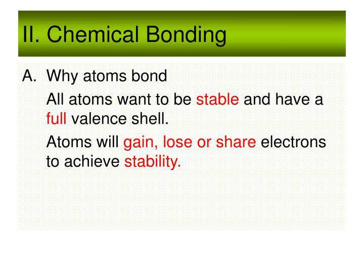 II. Chemical Bonding