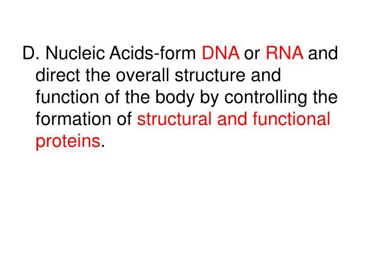 D. Nucleic Acids-form