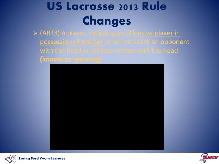 US Lacrosse 2013 Rule Changes