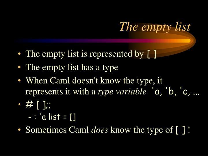 The empty list