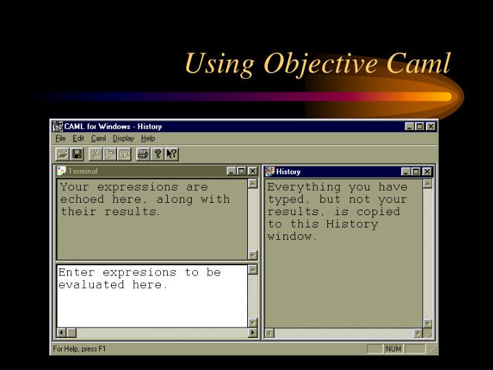 Using objective caml
