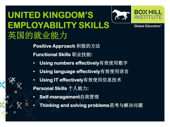 UNITED KINGDOM'S EMPLOYABILITY SKILLS
