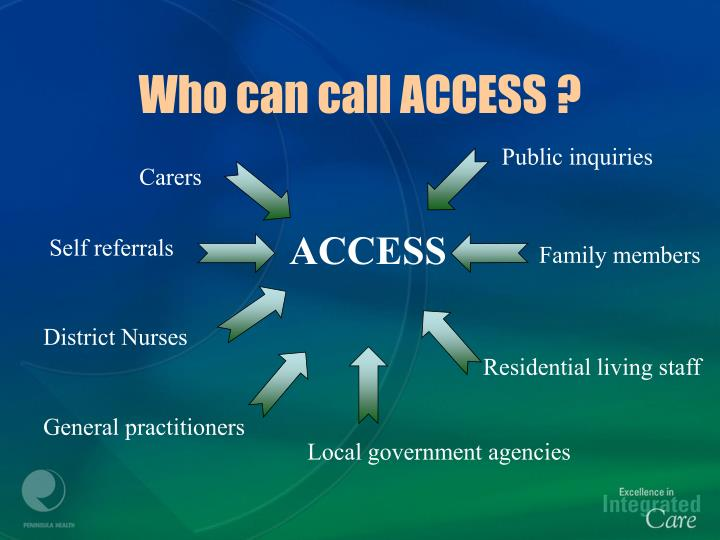 Who can call ACCESS ?