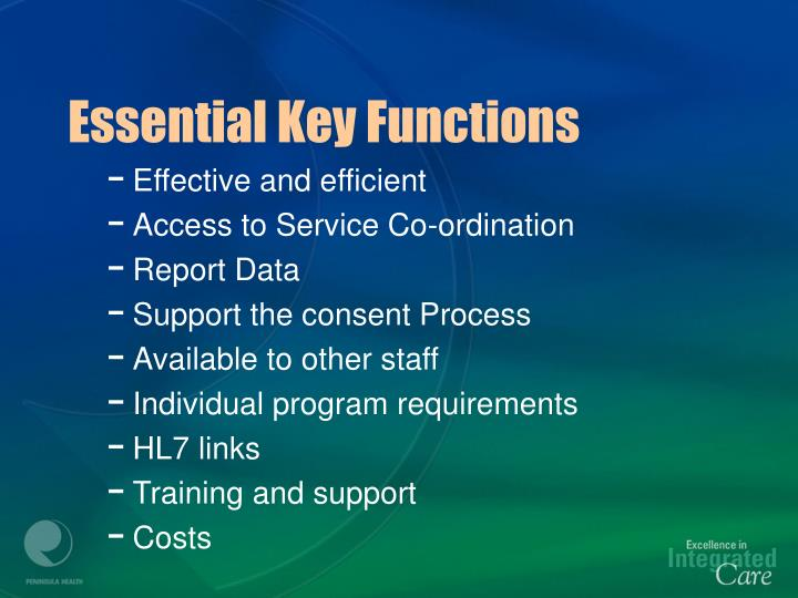 Essential Key Functions