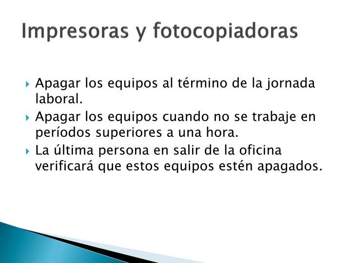 Impresoras y fotocopiadoras