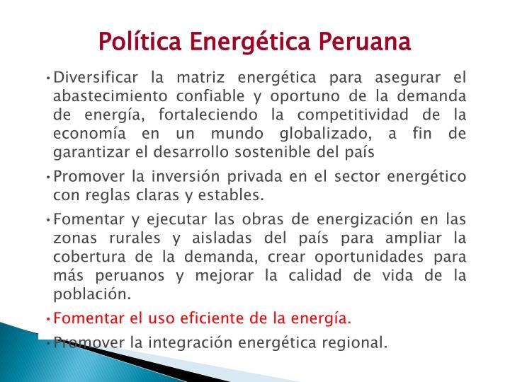 Política Energética Peruana