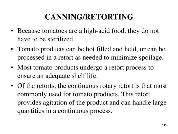 CANNING/RETORTING