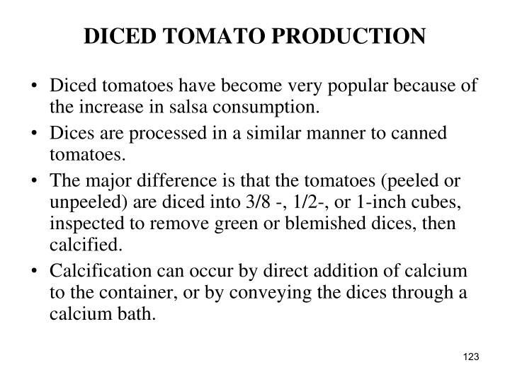DICED TOMATO PRODUCTION