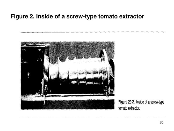 Figure 2. Inside of a screw-type tomato extractor
