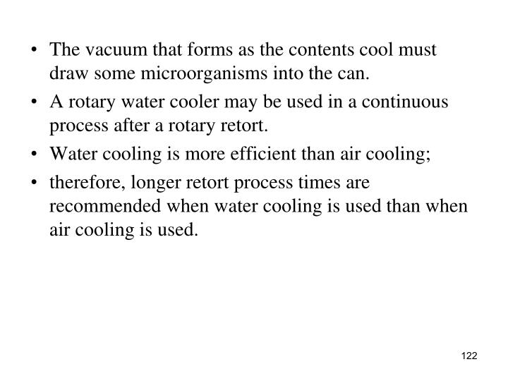 The vacuum that forms as the contents cool must draw some microorganisms into the can.