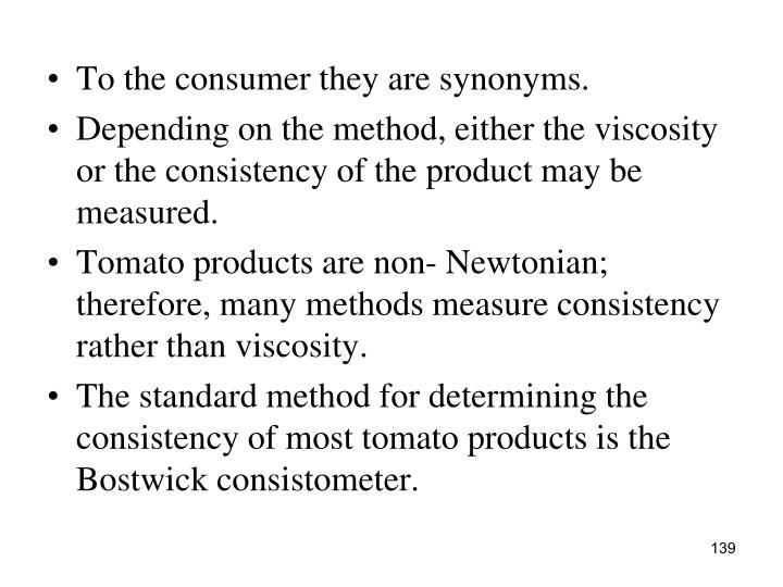 To the consumer they are synonyms.