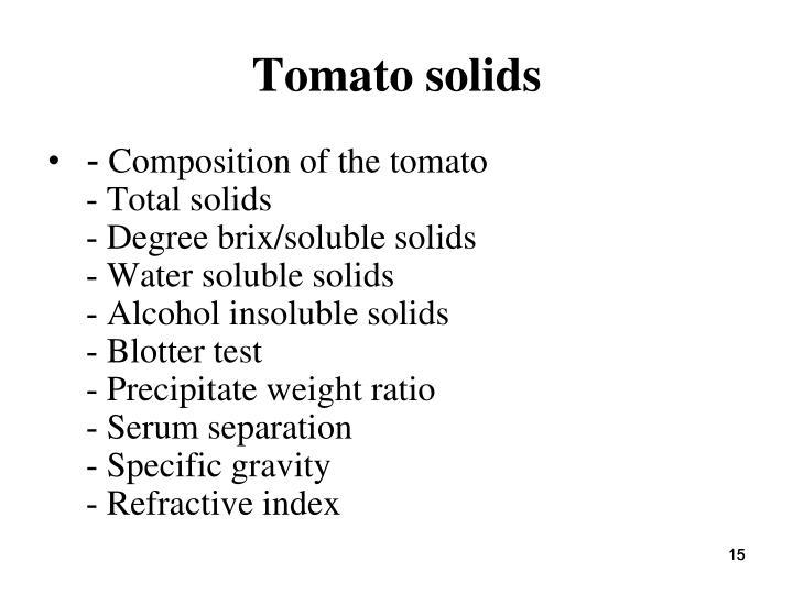 Tomato solids