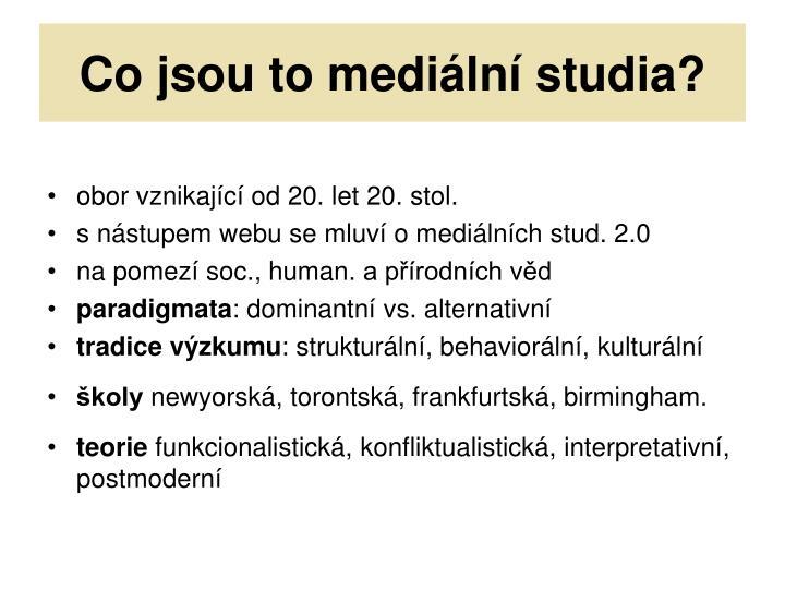Co jsou to mediální studia?