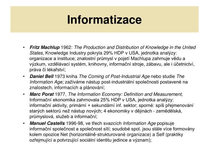 Informatizace