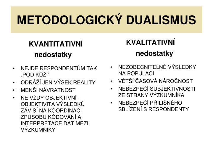 METODOLOGICKÝ DUALISMUS