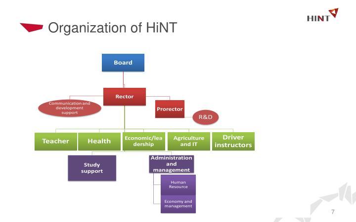 Organization of HiNT