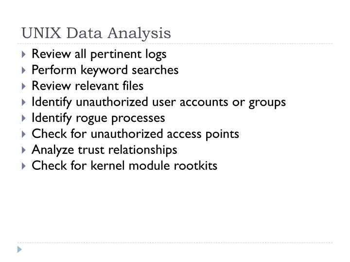 UNIX Data Analysis