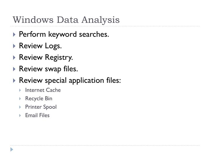 Windows Data Analysis