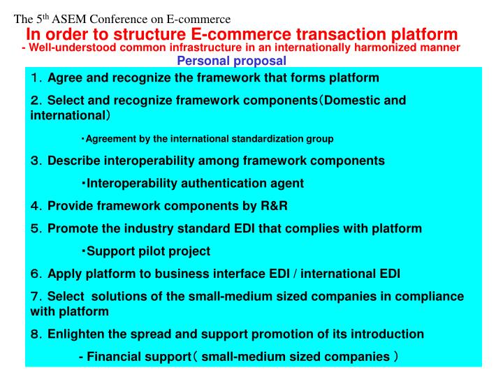 In order to structure E-commerce transaction platform