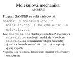 molekulov mechanika amber ii