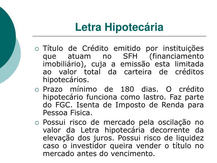 Letra Hipotecária