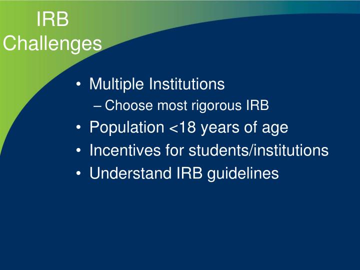 irb issues Posts about spotlight on irb issues written by ejfranci and tanyamatthews.