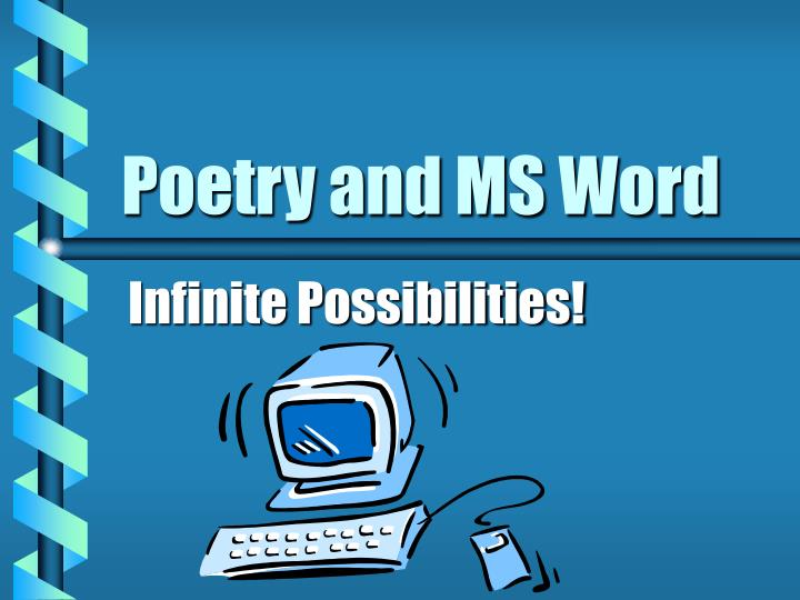 Poetry and ms word