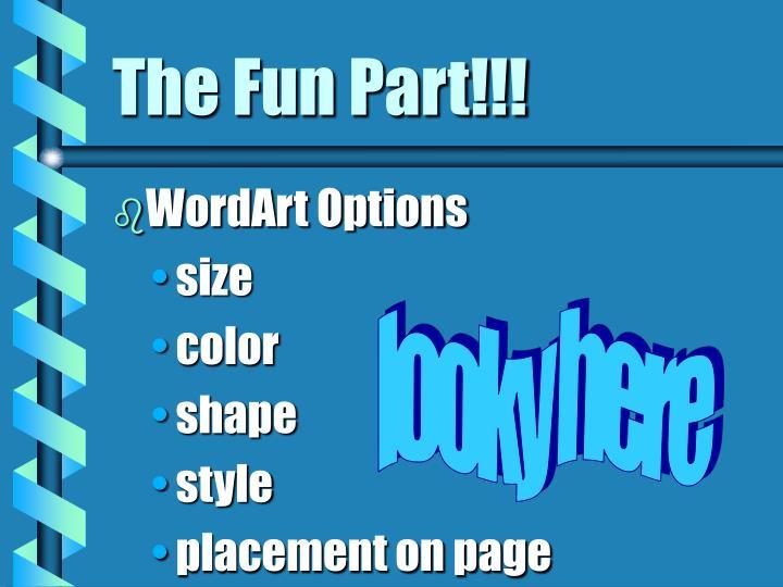 WordArt Options