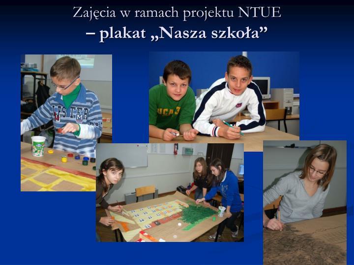 Zajęcia w ramach projektu NTUE