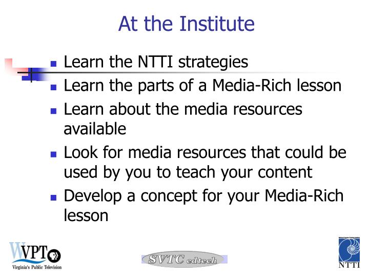 Learn the NTTI strategies