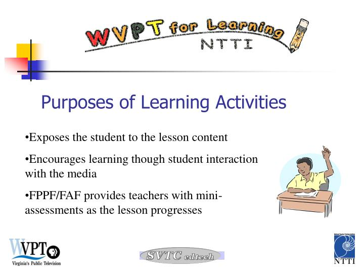 Purposes of Learning Activities